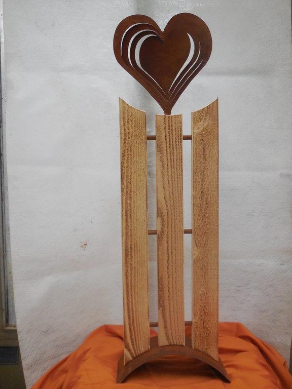 Metall dekoration herz auf platte onlineshop g rtnerei for Dekoration metall